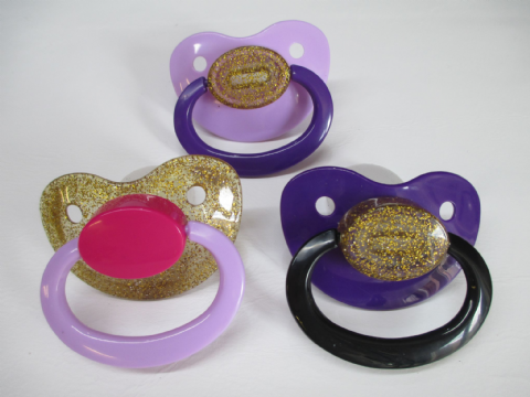 SALE -  Combo Coloured Mix and Match  Adult Sized Trio Pacifiers Set (P2)